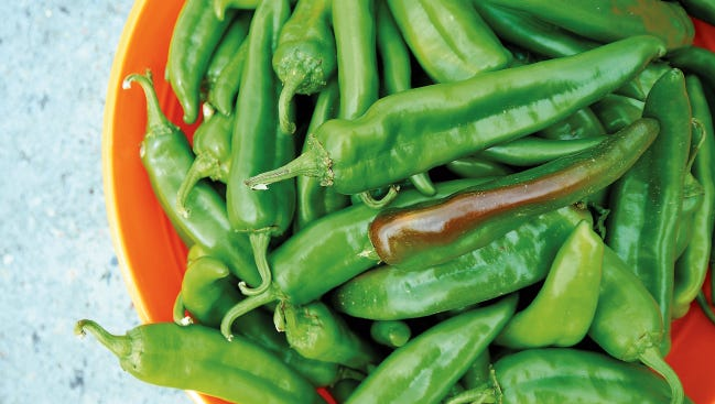 New Mexico-grown green chile is seen in this 2015 image.