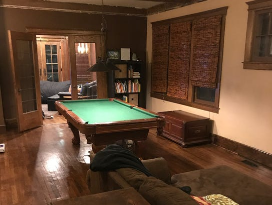 The completed pool table area of Higgins's and Mack's