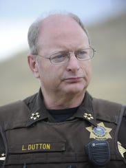Leo Dutton, the Louis and Clark County sheriff, gives
