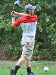 Bucyrus' Mason Light tees off on the 18th hole at Valley