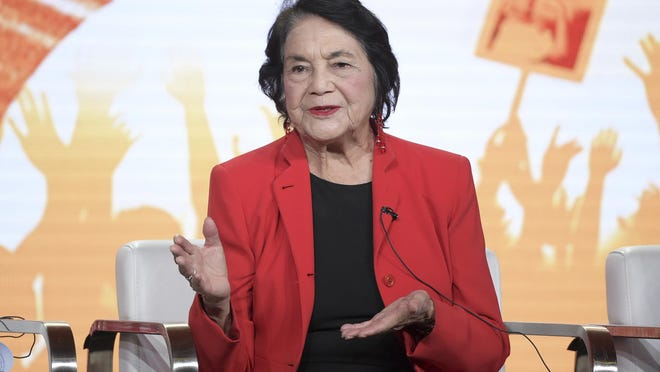 "Dolores Huerta, the social activist who formed a farm workers union with César Chávez and whose ""Si, Se Puede"" chant inspired Barack Obama's 2008 presidential campaign slogan, is the subject of the new PBS documentary, ""Dolores."""