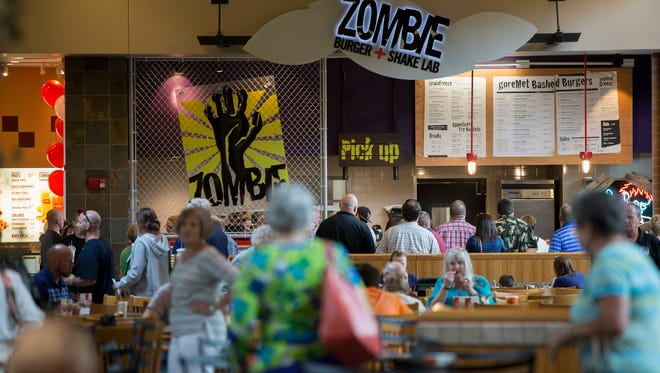 The Zombie Burger + Shake Lab opened in the food court at the Jordan Creek Town Center in West Des Moines last summer.