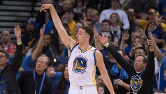 Klay Thompson needed just three quarters to pour in 60 points.