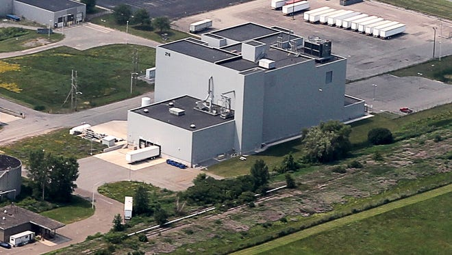 An aerial view of part of Xerox Corp.'s operations in Webster.