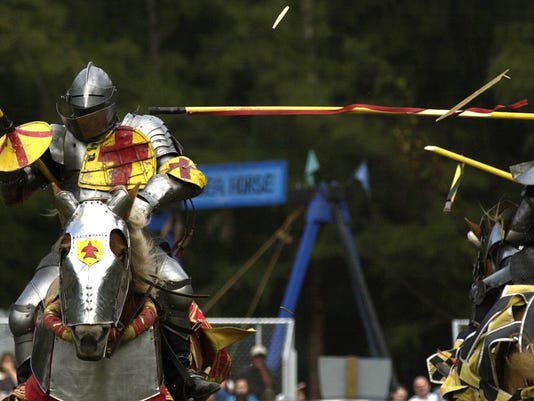 JOUSTING AT MEDIEVAL FAIRE AT LAKES PARK