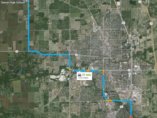 Procession route for funeral of Deputy Koontz