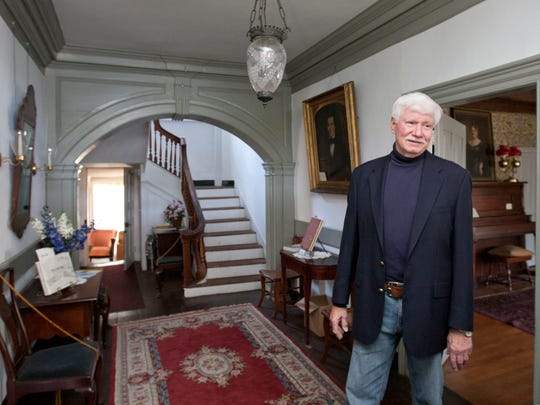 Tour of the historic Burrowes Mansion on Main St. in Matawan by Al Savolaine, boro historian—October 8, 2015-Matawan, NJ.-Staff photographer/Bob Bielk/Asbury Park Press