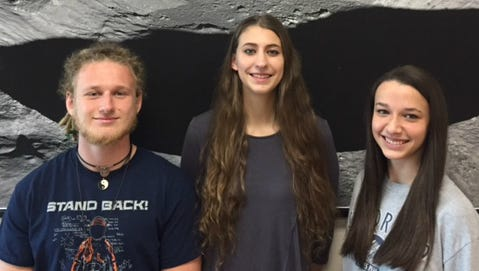 Mikala Garnier, Alysa Fintel and Jonas Eschenfelder. These three students make up the third KHS team in five years who have made the Final Four at EXMASS, with two teams winning the competition.