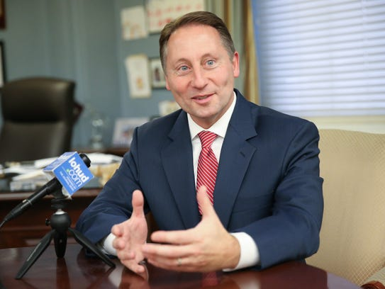 County Executive Rob Astorino gives an interview at