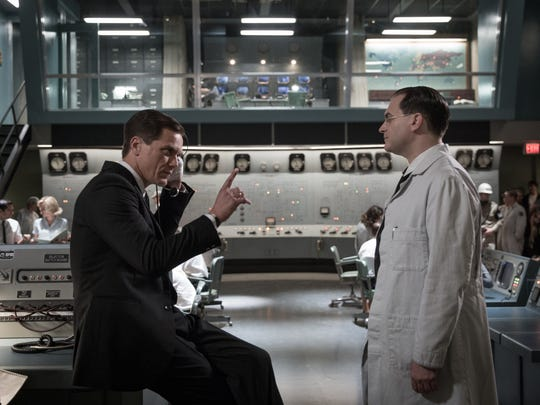 """Michael Shannon (left) and Michael Stuhlbarg in the film """"The Shape of Water."""" © 2017 Twentieth Century Fox Film Corporation All Rights Reserved."""