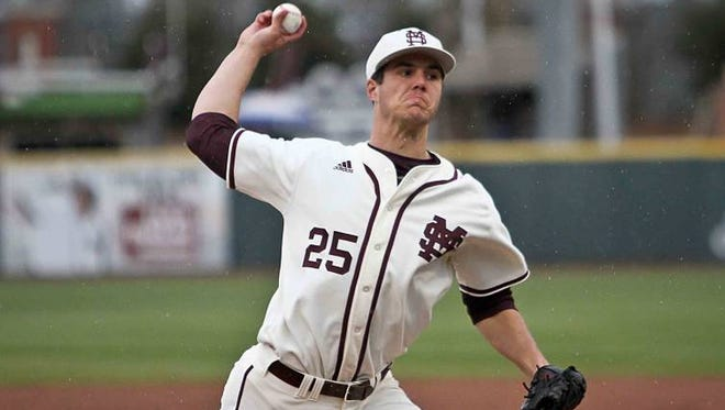 Mississippi State right-hander Dakota Hudson is projected as a top-10 pick in this year's MLB Draft.