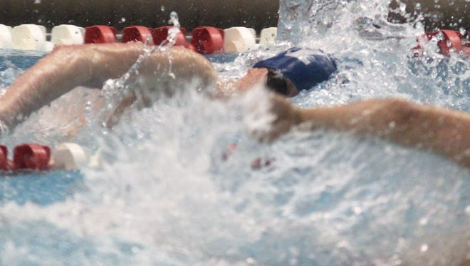 Highlands junior Brendan Conley swims the 200 freestyle during the KHSAA state swimming and diving meet Feb. 24, 2018, at the University of Louisville.