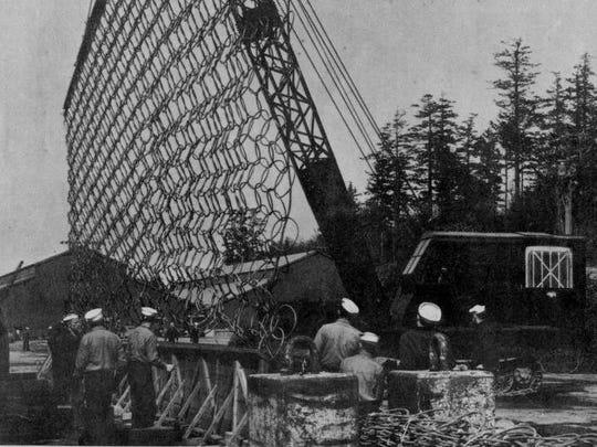 The Navy manufactured giant anti-submarine and anti-torpedo nets at Naval Magazine Indian Island during World War II.