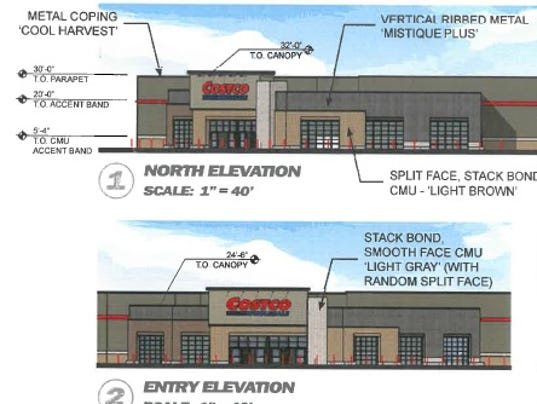 Costco store elevation illustrations photo submitted