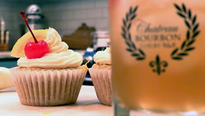 Whiskey sour cupcakes from Chateau Bourbon.
