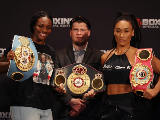 Claressa Shields v Hanna Gabriels - Weigh-in
