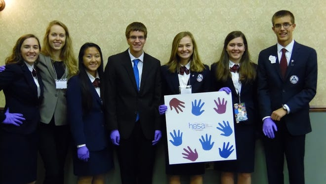 "Students from Sheboygan North's HOSA: Future Health Professionals recently wrapped up their annual ""HOSA Month"" activities."