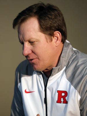 Coaches from the Rutgers football team were made available for the media interview at the Hale Center in Piscataway on Tuesday January 12, 2016. Here Rutgers football's new defensive line coach Shane Burnham talks with the media.