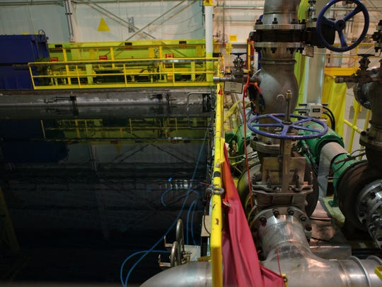 The spent-fuel pool inside Indian Point 3 is seen at