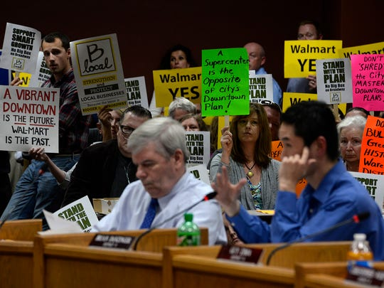 Supporters and opponents of the Walmart plan packed Green Bay City Hall last week as aldermen voted to deny the retailer's proposal.