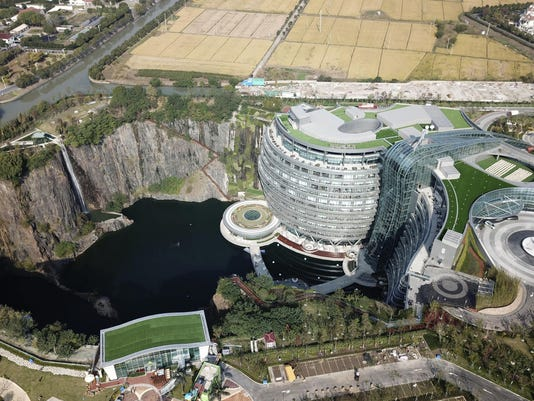 China Hotel in a Quarry