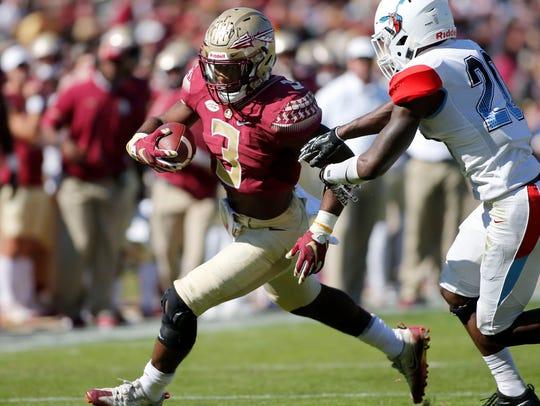 Florida State Seminoles running back Cam Akers (3)