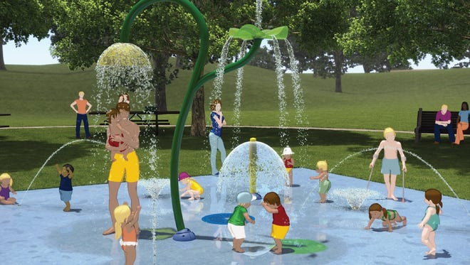 A splash pad was proposed for Knox Field with a donation just months after a water featured opened at Lakeside Park.