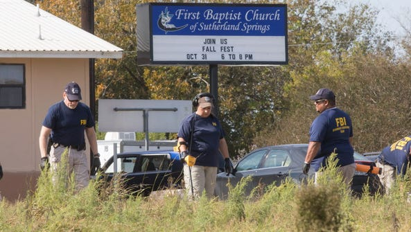 In Sutherland Springs, Texas, on Nov. 6, 2017.