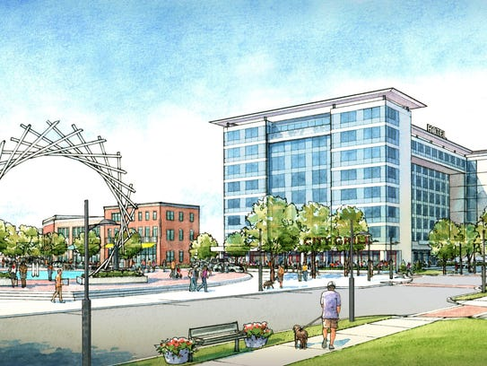 Renderings of a proposed $125-million downtown development