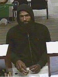 Authorities allege Laque Hunter of Camden is the man seen in surveillance video of Ocean First Bank robbery in Collingswood.