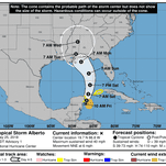 UPDATE: Subtropical Storm Alberto forms near the Gulf