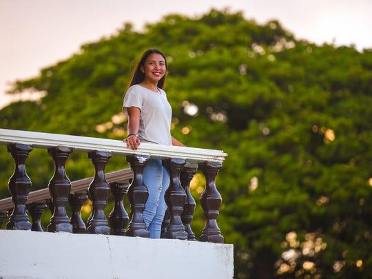 Jazmin Guerrero, Guam High School freshman, starts her VIBE career. Photographed on Oct. 11, 2017 at the Plaza de Espana.