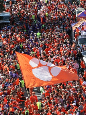 Area restaurants see a boost in business when Clemson is at home, a boost that grows when the game is against rival South Carolina.