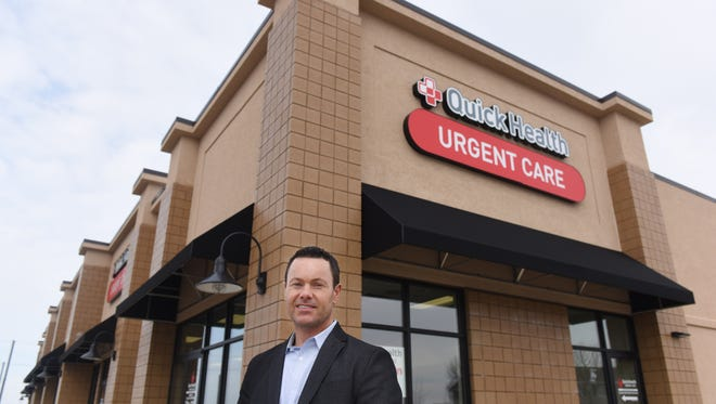 Patrick Heitkamp Clinical Director and CEO at Quick Health Urgent Care poses for a portrait outside of the healthcare center near 85th Street and Louise Avenue in south Sioux Falls.