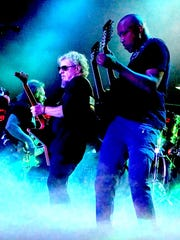 Sammy Hagar (center) performed with fellow members of The Circle Michael Anthony (left) and Vic Johnson Saturday at Fantasy Springs Resort Casino.