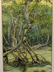 """Mangrove Canopy,"" oil painting by Brigitte Kozma, part of the ""Directions - Artists""exhibit at Meadows Art Gallery."