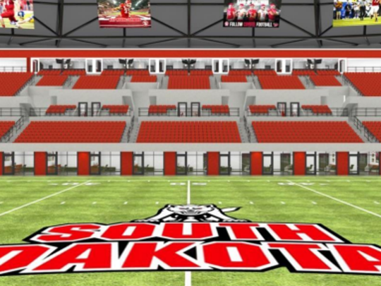 Rendering of the west side of the DakoraDome