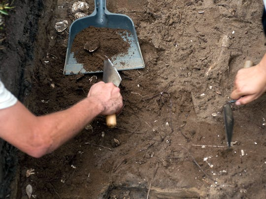 University of West Florida Archaeology students search