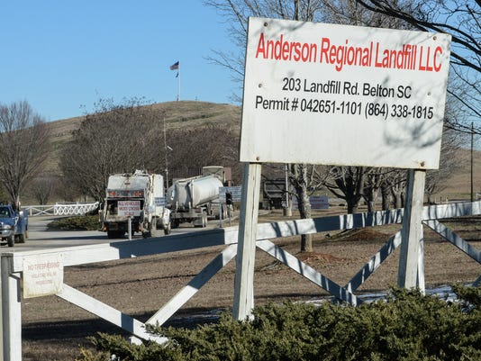 Anderson County Landfill in Belton