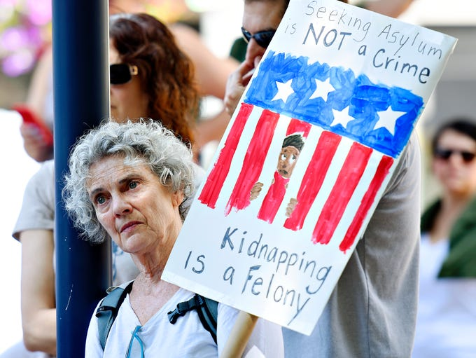 More than 100 people gather for the Families Belong