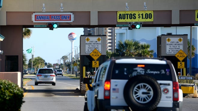 Renewing or purchasing a 2015 Bob Sikes toll bridge pass to access Pensacola Beach will require a visit in person to the Santa Rosa Island Authority and will include an additional tag on the windshield to go along with the trasponder.