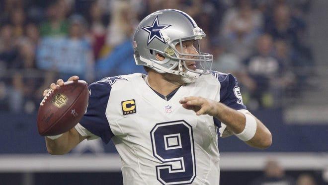 Tony Romo has thrown 30-plus TD passes in a season four times.