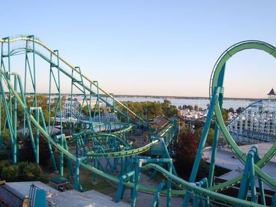 The Raptor roller coaster at Cedar Point in Sandusky,