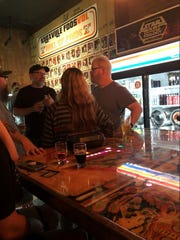 Comedian Jim Gaffigan (right) was spotted at Suttree's