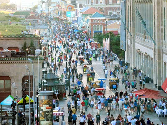 Take a stroll on the Atlantic City boardwalk.