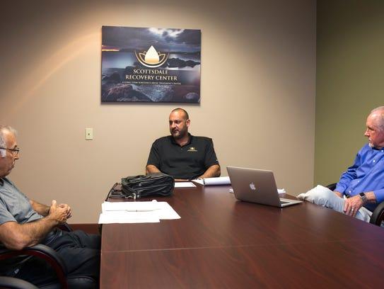 Chris Cohn meets with board members July 25, 2017,
