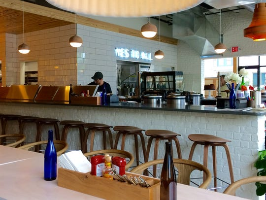 Lulu's open kitchen and counter in Nashville.