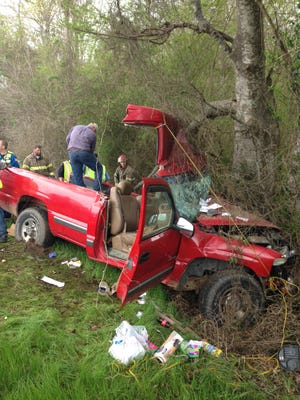 A Simpson County man died in a one-car accident this morning.
