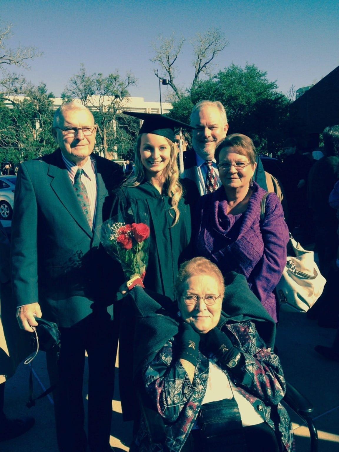 My whole family at my graduation.