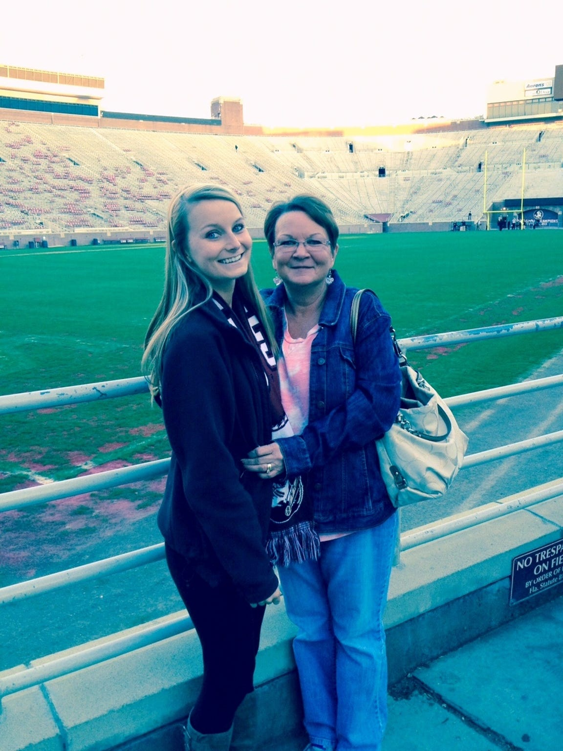 My mom and I at her first time in Doak.